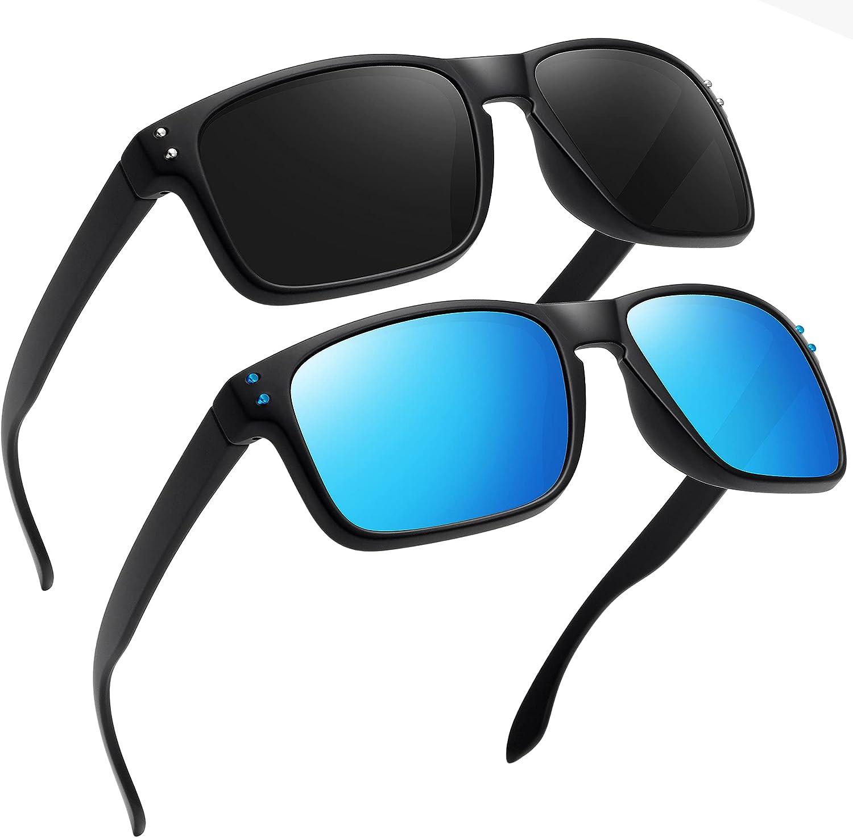 MEETSUN Polarized Sunglasses for Men Classic Retro Designer Style Square Sun Glasses for Driving 100% UV Protection