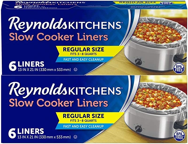 Reynolds Kitchens Premium Slow Cooker Liners 6 Count Pack Of 2