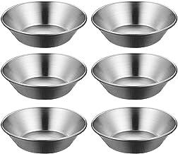 TOPBATHY 6pcs Egg Tart Mold Stainless Steel Cupcake Baking Mold Reusable Metal Muffin Baking Cups Fruit Tart Molds Tartlet...