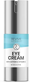 Revive Science Eye Cream with Collagen, Caffeine, Niacinamide for Dark Circles, Puffiness, Wrinkles, Fine Lines, Under Eye...