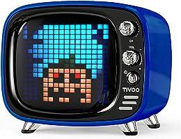 Divoom, Tivoo, Altoparlante Bluetooth Dotato Di Schermo LED RGB a 256 Colori, Blu