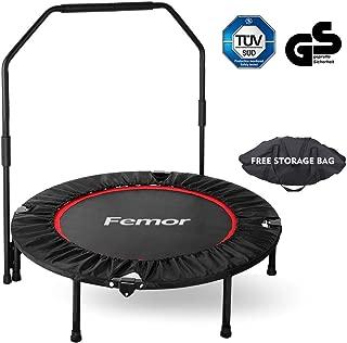 Femor Trampoline Fitness, Pliable, Poignée Réglables,Capacité de Charge 150 kg,pour Intérieur, Jardin,Adulte et Enfant