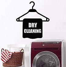 Buanderie stickers muraux nettoyage à sec chambre décoration murale support à linge motif vinyle stickers étanche nettoyeu...