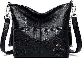 Women's Shoulder Bag Large Purse for Women Crossbody Pu Shoulder Bag Crossbody Bag Girls (Color : Black, Size : One size)