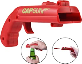Ownest Cap Gun Launcher Shooter Bottle Opener,Beer Drink Bottle Opener for Party Drinking Funny Game- Shoots Over 5 Meters(Red)