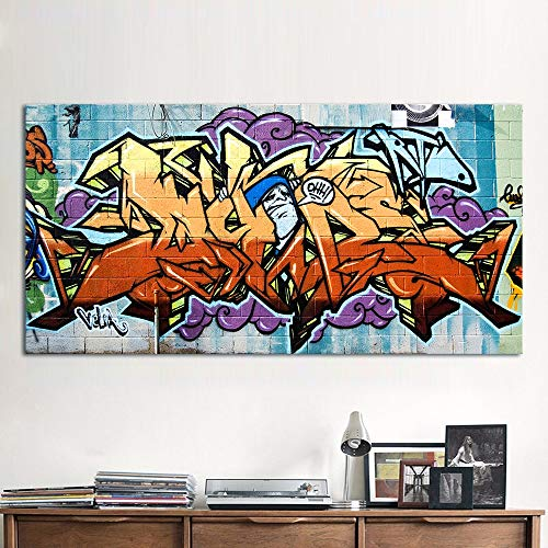 N / A Rahmenlose Malerei Graffiti Straße Leinwand Wandkünstler HausdekorationZGQ7172 30x60cm