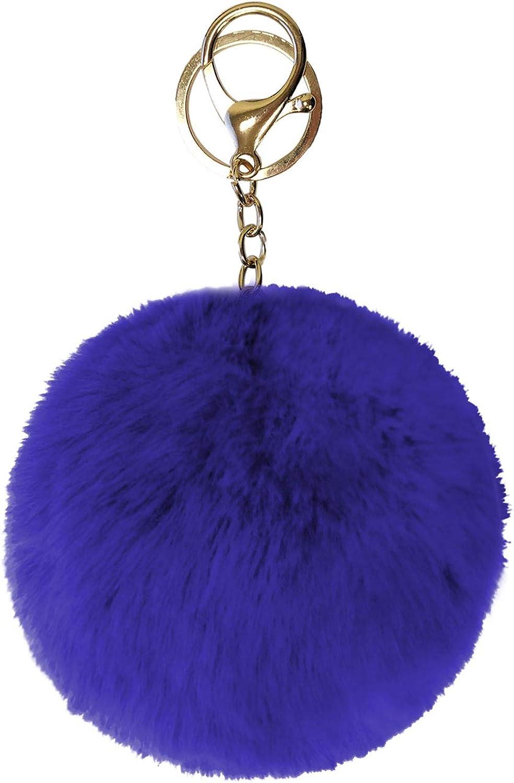 Bag Charm  PomPom Doll Keychain Bear head Fur Ball Keyring Rings Pendant