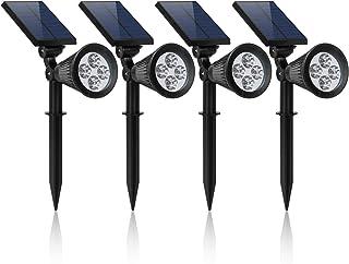 YINGHAO Solar Lights Spotlight High Power Outdoor Landscape Lighting Waterproof Wall Light Security Night Lights, Solar Sp...