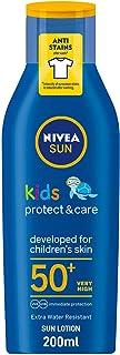 NIVEA SUN Kids Protect and Care Sun Lotion UVA and UVB Protection SPF50+, 200 ml