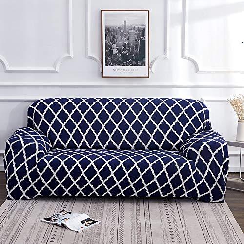 WXQY Funda de sofá elástica de Malla elástica Funda de sofá de Sala de Estar sillón Chaise Longue Funda de sofá Todo Incluido A9 4 plazas