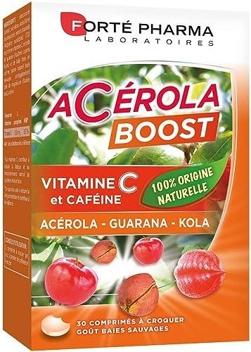 Acérola Boost | Complément Alimentaire Vitalité - Riche en Vitamine C, Guarana et kola | 30 Comprimés à croquer