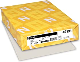 Wausau Exact Index Cardstock, 90 lb, 8.5 x 11 Inches, Pastel Gray, 250 Sheets (49191)