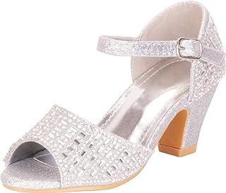 062814f7d1a Cambridge Select Girls  Open Toe Chunky Mid Heel Dress Sandal (Toddler  Little Kid