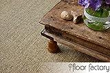 floor factory Sisal Teppich Taupe grau 130x190 cm 100% Naturfaser mit Leinenbordüre - 6