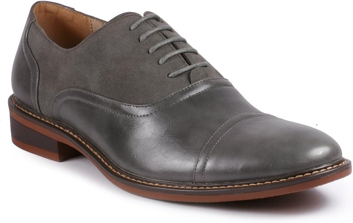 Metrocharm MC603 Men's Lace Up Cap Toe Classic Oxford Dress Shoe