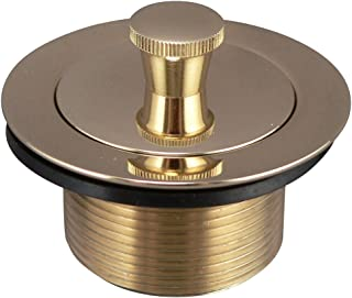 Keeney Manufacturing K62-3DSPB Lift N' Turn Style Bath Drain Replacement Assembly, Polished Brass