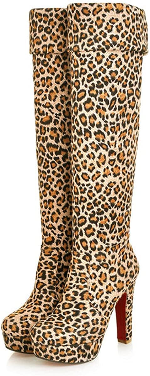 Dear Time Women Regular Discount is also underway store Suede Fashion Leisure Knee Toe Pointy Boots Lace