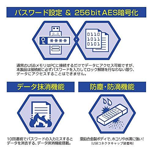 センチュリー パスワード入力型セキュリティUSBメモリ USB3.0接続 64GB 『Lock U (ロックユー)』 CSUL64G