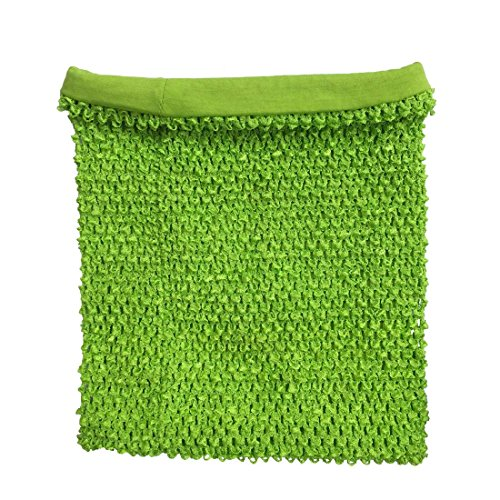 Kelly Green Crochet Tutu Top Lined 12 Inches X 10 Inches Elastic Crochet Tube Top