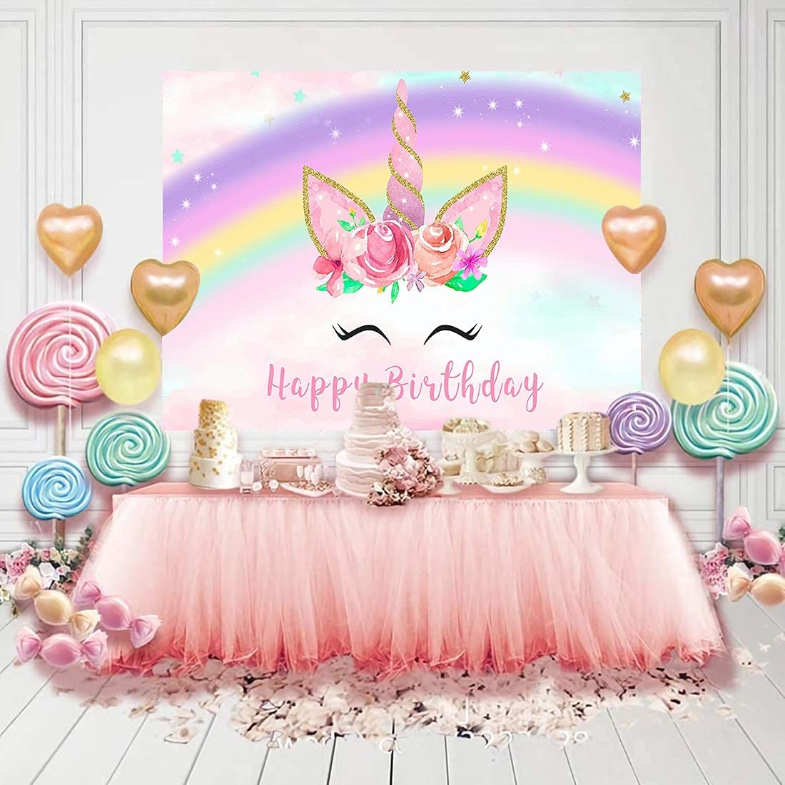 Mzhizhi Happy Birthday We OFFer at cheap prices Theme Pink Backg Backdrops Direct sale of manufacturer Photo