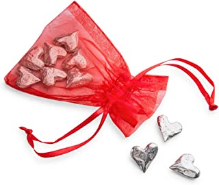 DANFORTH - Vilmain Original Heart Pocket Tokens, Bag of 10 Pocket Coins - Pewter - Made in USA