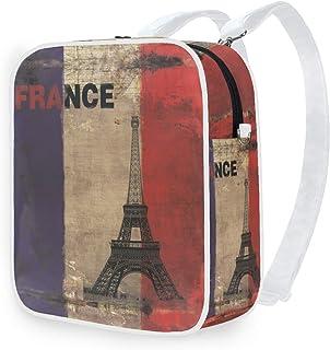 DEZIRO Mochila de hombro Vintage Eiffel Tower School Mochilas