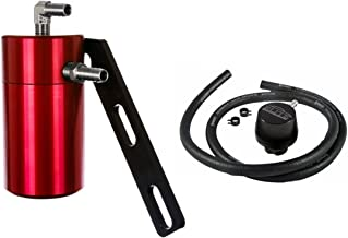 Elite Engineering Standard PCV Oil Catch Can & Hardware with Nickel Hose Barb Fittings, Clean Side Separator for 2008-2013 Corvette LS3 - RED