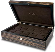 Rapport London Macassar Wood Ten Watch Box Storage