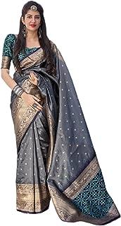 Grey Indian Women Traditional Wear Hit Fashion Banarasi Silk Sari With Blouse Piece Party Wear Designer Saree 6072