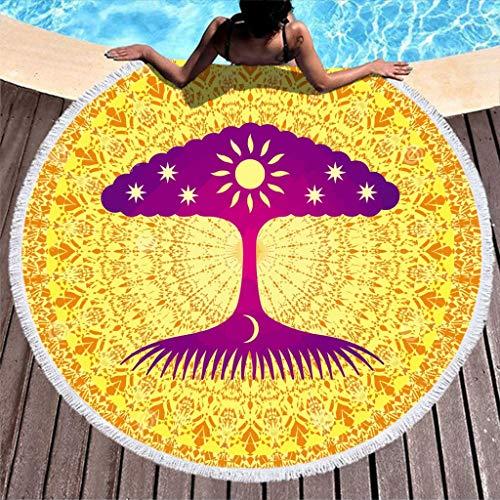 Rcerirt ultraweich Beach Blanket mit Quaste für Bad/Pool/Strand Magic White 150cm