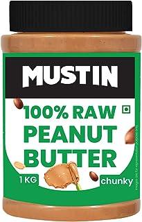 Mustin Raw Peanut Butter Chunky Jar, 1000 g