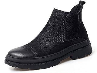 [HTAO] ブーツ メンズ 厚底 歩きやすい 冬用 カジュアルスタイル かっこいい 折り返し 防寒 ハイカット