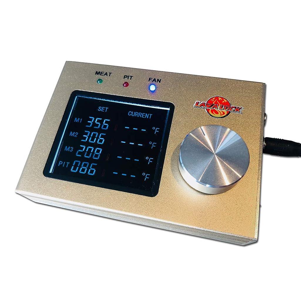LavaLock? 4-Probe Automatic BBQ Controller w/ 35 cfm Variable Speed Fan for sm, med, Large pits, BGE, Kamado Joe, WSM, UDS, Weber Smokey Mountain, Oklahoma Joe's, Offset Vertical Stick Burner Smokers