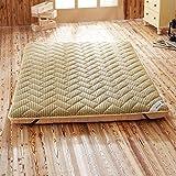 Espesar Suelo Mat, Tatami Primeros del colchón Reversible Acolchado Transpirabilidad Suaves Japonés Plegable Futón Almohadilla-Camello 135x190x6cm