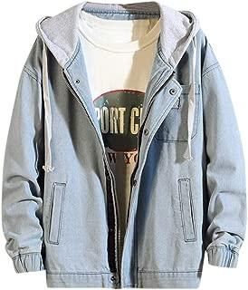 Hip Hop Denim Jacket Men Hooded Plus Velvet Coat Jacket Zipper Bomber Coat Blue Sweat Hoodies Hippie Baseball Jacket