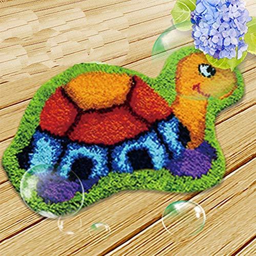 Kits de Gancho de Cierre for los Adultos DIY Costura Crochet Cojín Bordado de la Almohadilla de Tiro de la Cubierta de la Tortuga de los 50 * 36cm