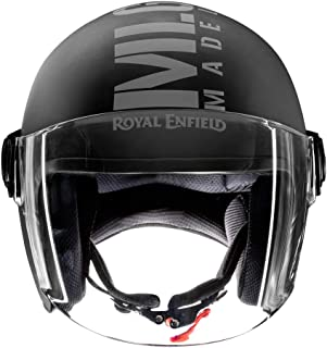 Royal Enfield Matt Black Open Face with Visor Helmet Size (XL)60 CM (RRGHEL000048)