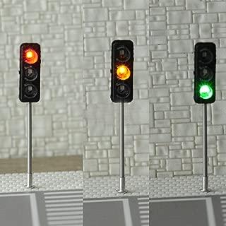 FidgetKute 3 x HO / OO Traffic Light Signal LED Model Train Architecture Crossing Street #6 Show One Size