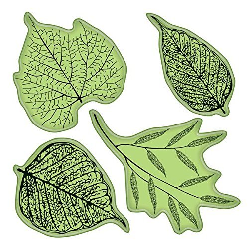 Inkadinkado Stamping Gear Cling Stamps, Fossil Leaves