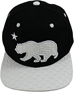 California Republic Flat Bill Snapback Cap