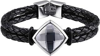 Hardart Shining Crystal Knit Leather Bracelet of Best Gift for Women and Girls