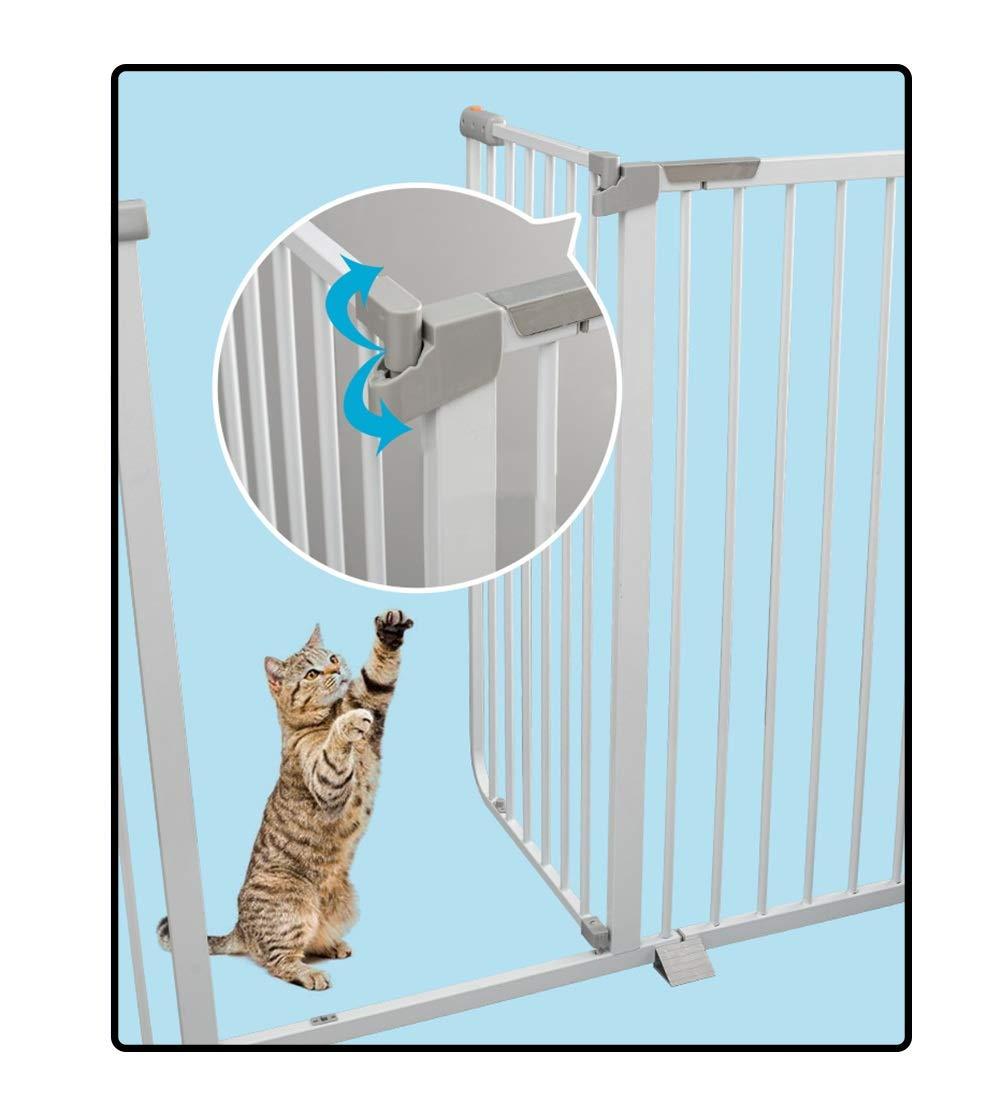 QIANDA Barrera Seguridad Niños Protector Escaleras Bebe Extra Alto 103cm A Presión Seguridad Puerta Fuerte Apto for Perros Grandes - Blanco (Ancho 61-215cm) (Size : 173-180cm): Amazon.es: Hogar