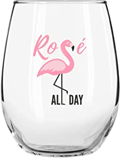 rose all day wine glass