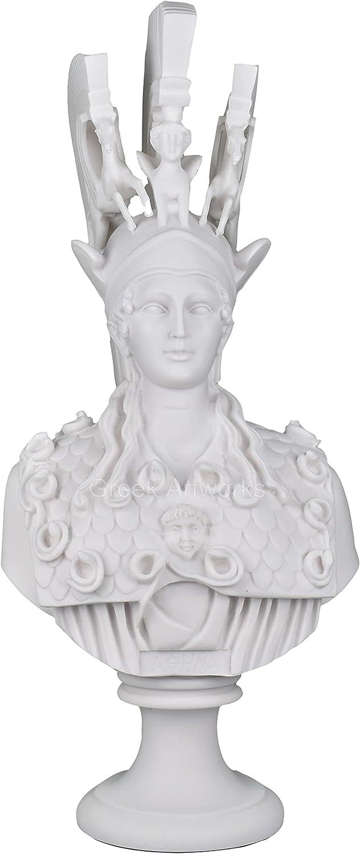 Athena Minerva Bust Head Greek Roman Goddess Statue Sculpture ca
