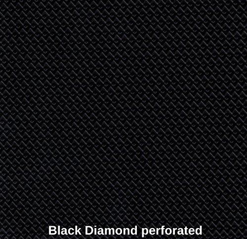 Luvfabrics Marine Vinyl Waterproof Black Diamond SEMI Perforated 54 Inch Fabric Sold by The Yard. Shipped Rolled