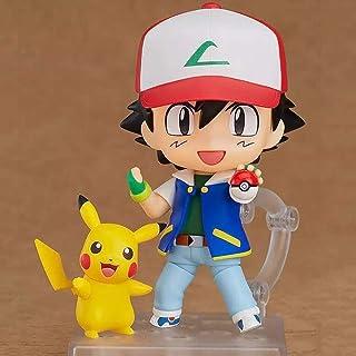 XUEKUN Figura-Pikachu-Ash Ketchum Acción De Pokemon-10cm-estatua-animado De Modelo-Toys-Recuerdo-Regalo Colección Pikachu-Ash Ketchum