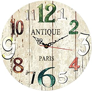 MGT0060 (30 x 30 cm) Analog wood-Wall Clock multi color