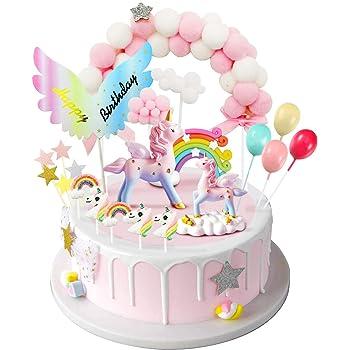 Wolke Torte Einhorn Deko f/ür Kinder M/ädchen Junge Luftballon Camelize Einhorn Tortendeko Geburtstag,Kinder Einhorn Kuchen Topper,Happy Birthday Girlande