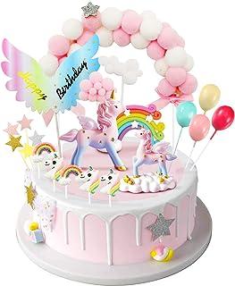 iZoeL Unicornio Decoración de Tartas Cumpleaños Happy