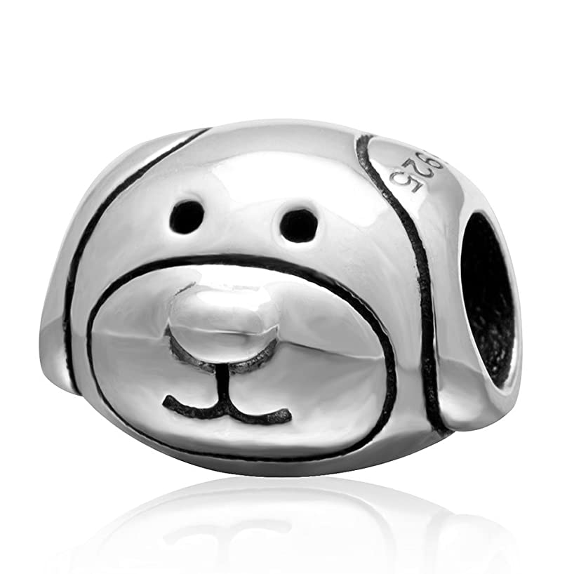 Fits DIY Charms Bracelet 925 Sterling Silver Bead Animals Dog Bead Charms European DIY Jewelry Findings